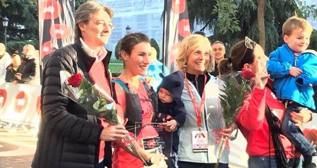 Marta Higueras en la Media Maratón de la Mujer