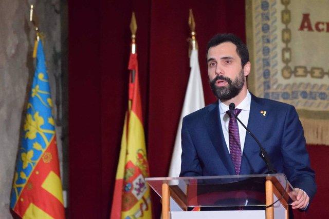 El pdte. Del Parlament de Catalunya, Roger Torrent, en la Comunidad Valenciana