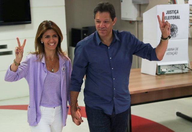 Fernando Haddad, presidential candidate of Brazil's leftist Worker Party (PT), a