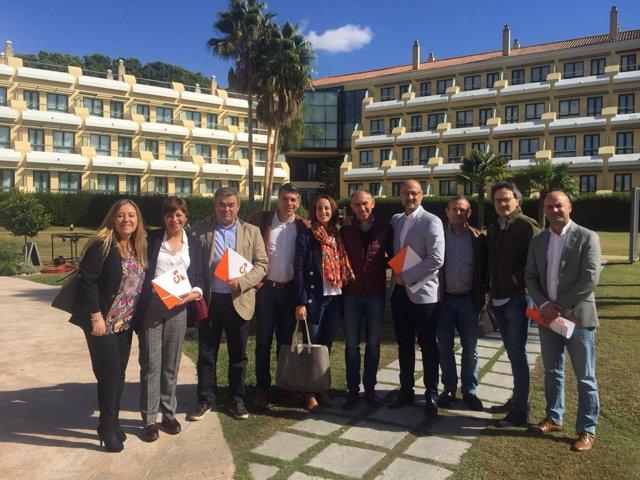 Jerez.- Parte de la delegación de CyL