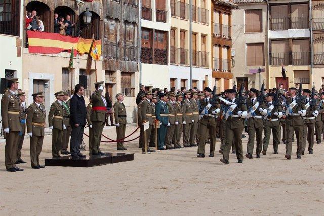 Valladolid.- Un momento del acto de Peñafiel