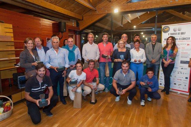 Ganadores del Trofeo de Golf benéfico de Niños contra el Cáncer