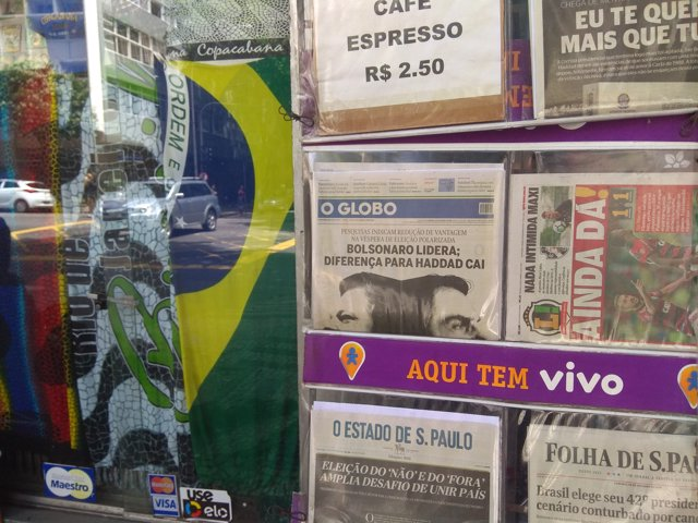 Prensa elecciones brasil 2018