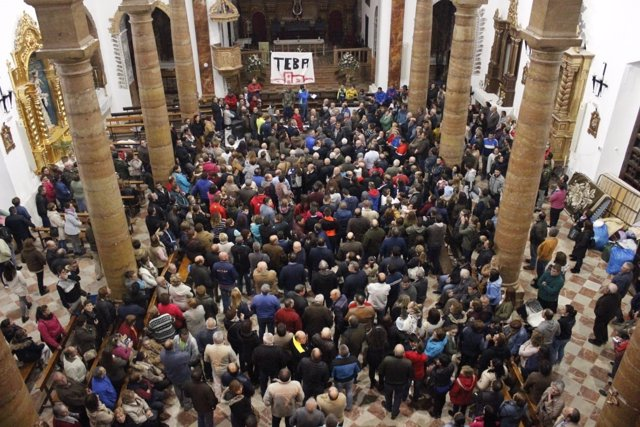 Iglesia de Teba encierro asamblea riadas petición zona catastrofica