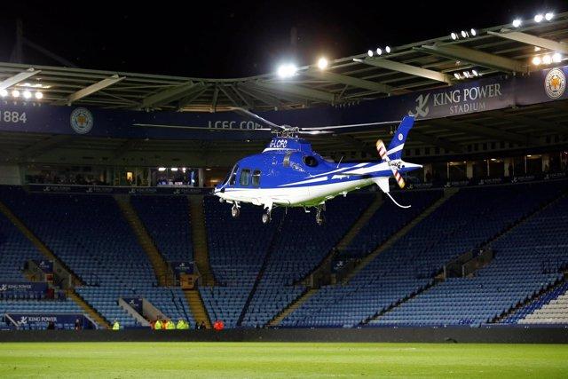 Helicóptero del Leicester