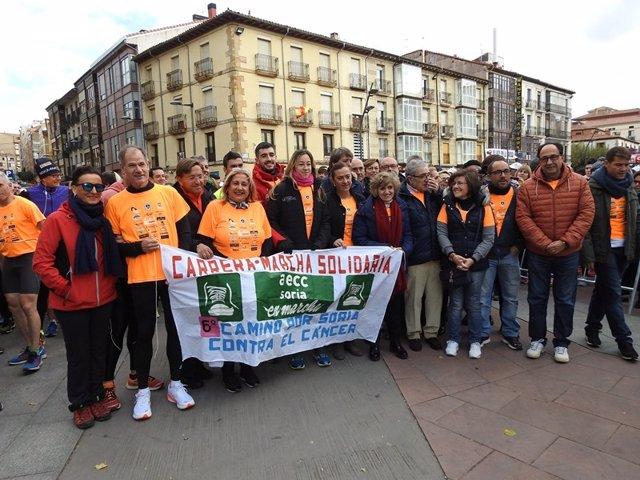Soria.- Carcedo encabeza la marcha contra el cáncer