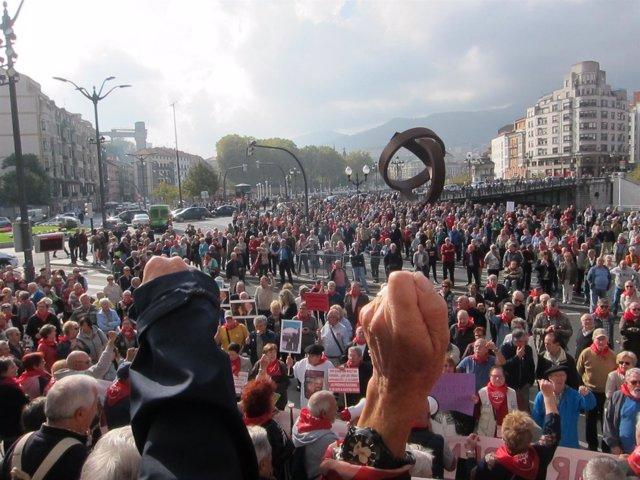 Movilización de pensionistas de Bizkaia