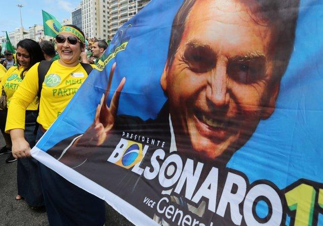 Manifestación de apoyo al ultraderechista brasileño Jair Bolsonaro