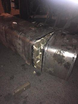 Depóstio trucado de un camión en Algeciras para ocultar hachís