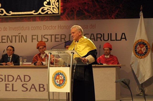 El doctor Valentín Fuster, doctor Honoris Causa por la U. Alfonso X el Sabio