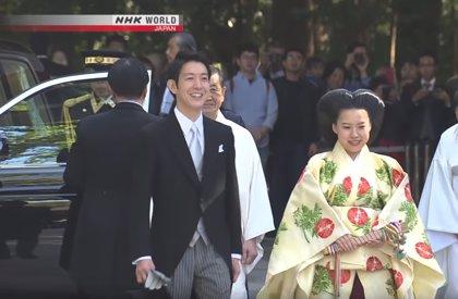 El llamativo peinado de la princesa Ayako en su boda
