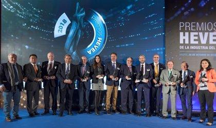 'Hankook', 'Bridgestone' y 'Michelin', galardonados con los Premios Hevea en Motortec