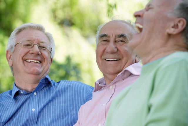 Mayores, sonrisa, risas
