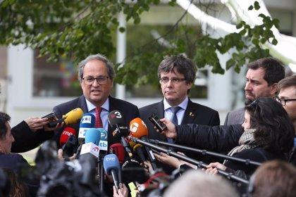 Torra lanza este martes el Consell per la República con intervenciones de Puigdemont y Comín