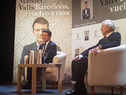 "Manuel Valls junto a Vargas Llosa: ""Soy el candidato de las élites"""