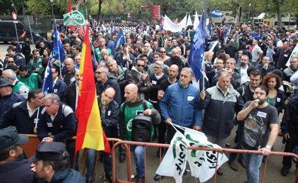 Funcionarios del Estado en Sevilla respaldan las movilizaciones de los trabajadores de prisiones