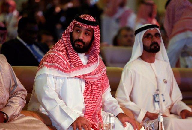 El príncipe heredero Mohamed bin Salmán interviene el en foro de inversión