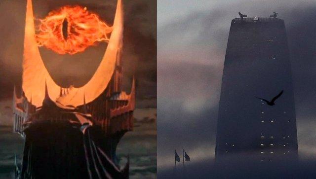 La torre de San Francisco y el Ojo de Sauron