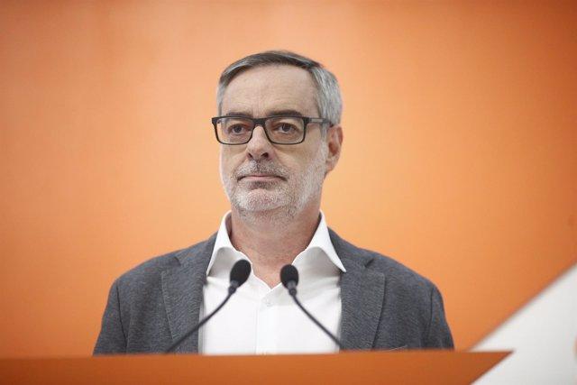 El secretario general de Ciudadanos, José Manuel Villegas, ofrece una rueda de p
