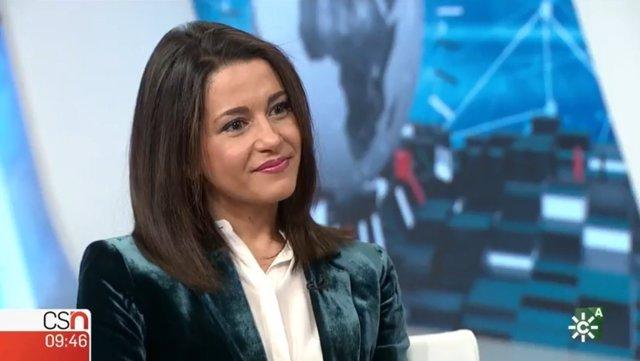 Inés Arrimadas, en Canal Sur Televisión