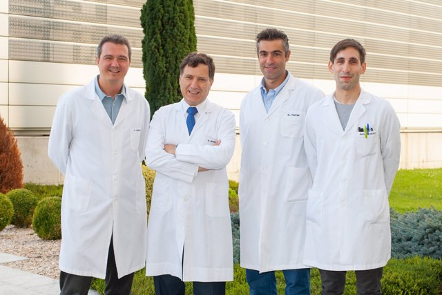 Pedro Berraondo, Ignacio Melero, Fernando Pastor e Iñaki Etxeberría.