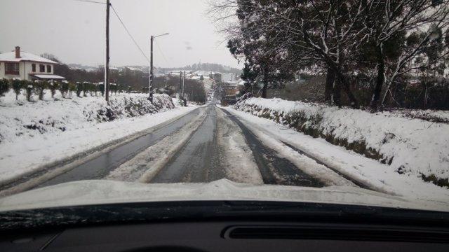 Nieve, nevadas, carreteras nevadas, temporal, frío,