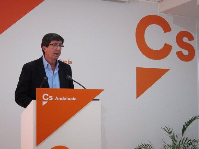El candidato de Cs a la Presidencia de la Junta, Juan Marín