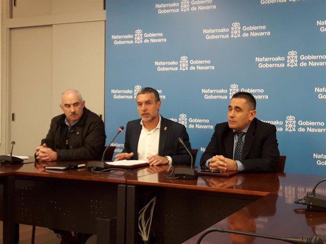 José María Aierdi, Miguel Laparra y José Miguel Collado.