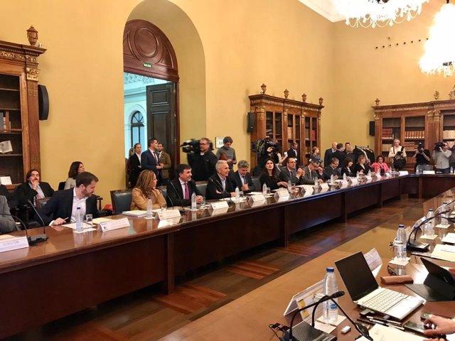 El consejero de Cultura, Miguel Ángel Vázquez, en la conferencia sectorial