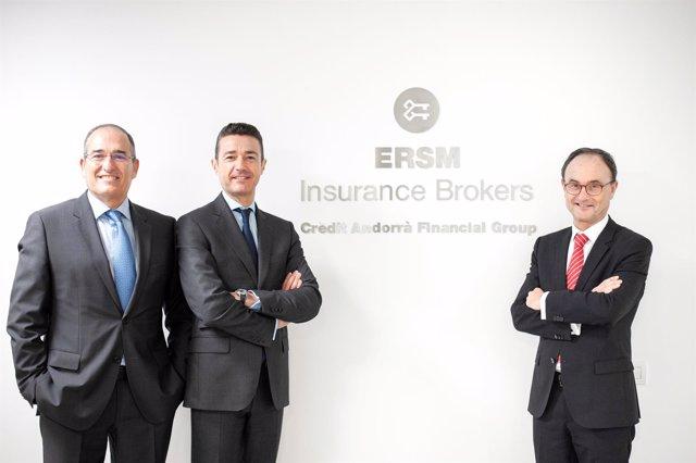 Ricard Soler,Josep Mulà (ERSM Insurance Brokers) Josep Brunet (Crèdit Andorrà)