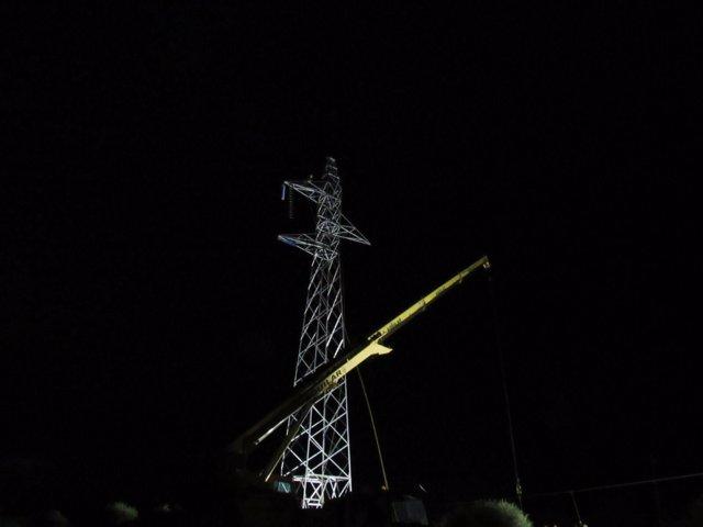 REE levanta torre de Menorca