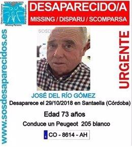 Desaparecido en La Montiela de Santaella