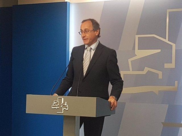 Foto de archivo de Alfonso Alonso en el Parlamento Vasco