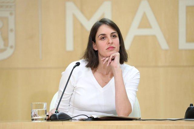 La portavoz municipal Rita Maestre en rueda de prensa en el Ayuntamiento