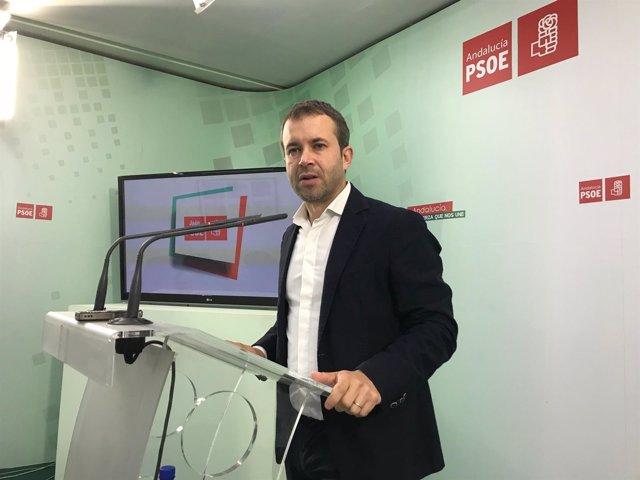 El secretario general del PSOE de Jaén capital, Julio Millán.