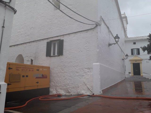 Equipo de grupos electrógenos instalado por Endesa en Menorca tras el apagón