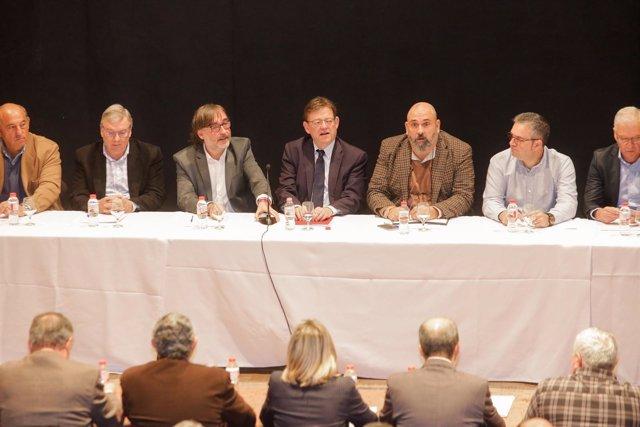 Reunión con los alcaldes de La Ribera