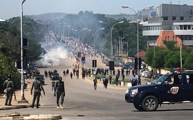 Manifestación de miembros del Movimiento Islámico de Nigeria en Abuya