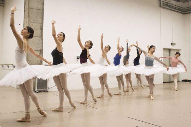Algunos de los bailarines que participarán en la representación de 'Don Quijote'