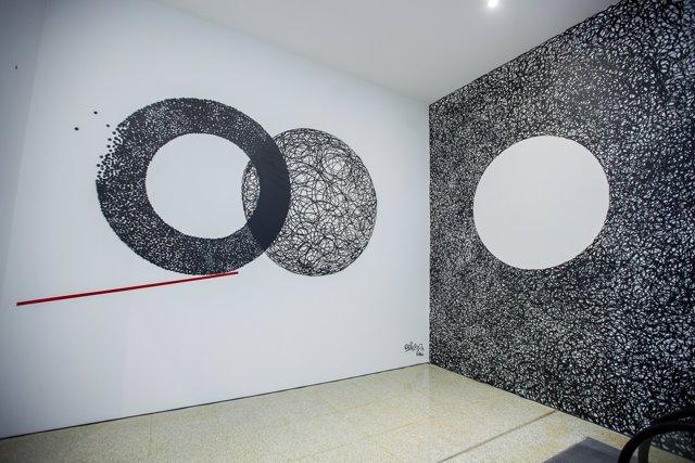 Intervención de DARKO en málaga de festival cine cultura pintura arte