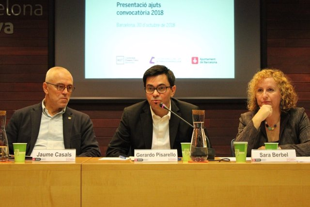 Jaume Casals, Gerardo Pisarello y Sara berbl