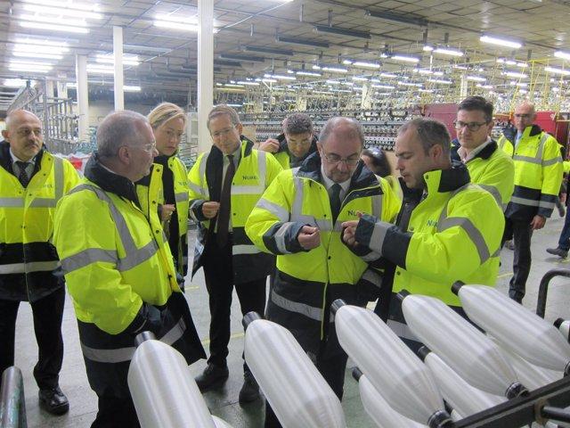 Javier Lambán visita la empresa Nurel