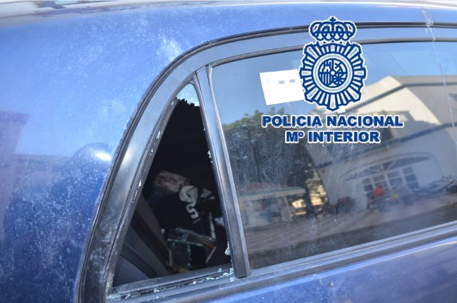 Robo en vehiculos coche garaje estepona policía nacional