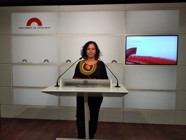La nueva portavoz de los comuns en el Parlament, Susana Segovia