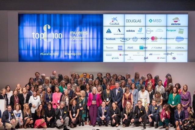 Foto de familia de las integrantes en el Top 100 Mujeres Líderes en España