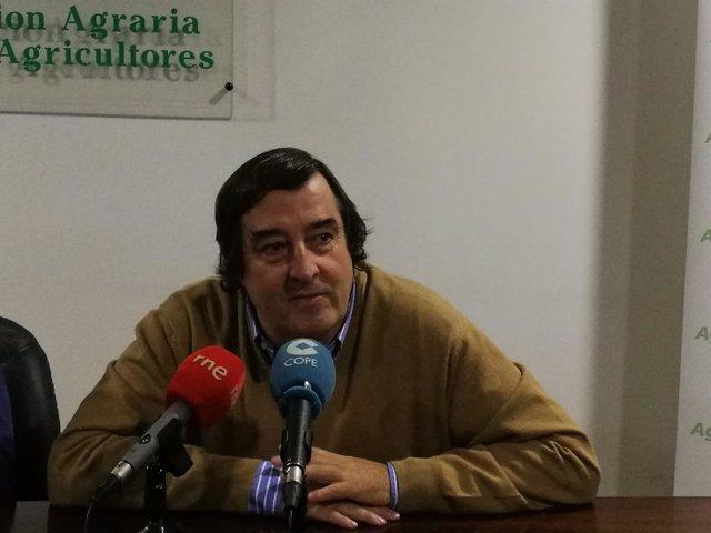 Ángel García Blanco, presidente de Asaja Extremadura