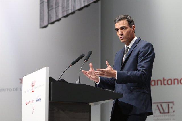 El presidente del Gobierno, Pedro Sánchez, en el XXI Congreso de IEF