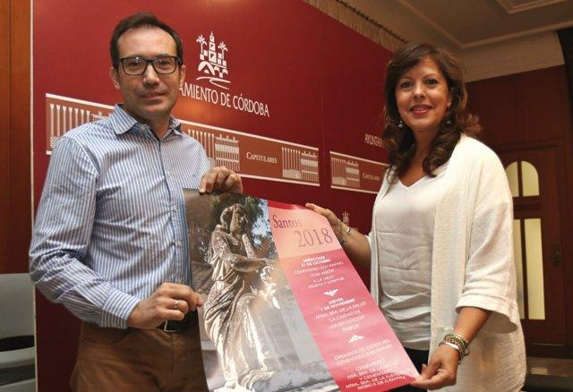Presidenta de Cecosam, María del Mar Téllez, y el director gerente de la empresa