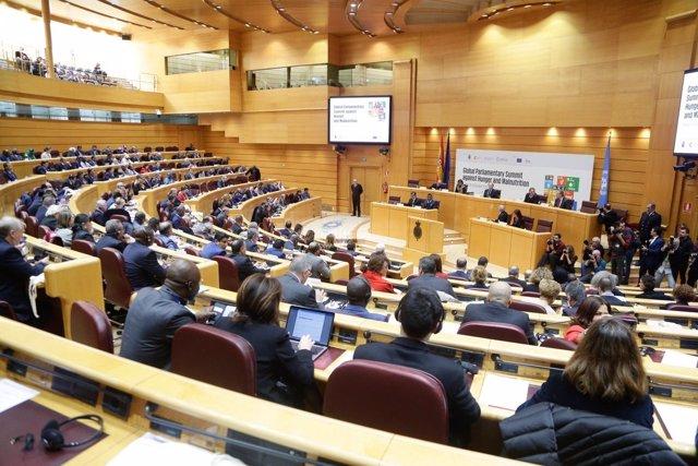 Imagen de la Cumbre Parlamentaria Mundial contra el Hambre, en el Senado