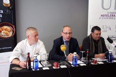 Carles Flinch (xef) Carles Ramos (UHA) Roger Biosca (hotel Isard, Andorra)